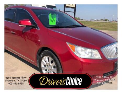 2013 Buick LaCrosse for sale at Driver's Choice in Sherman TX