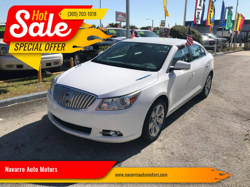 2011 Buick LaCrosse for sale at Navarro Auto Motors in Hialeah FL