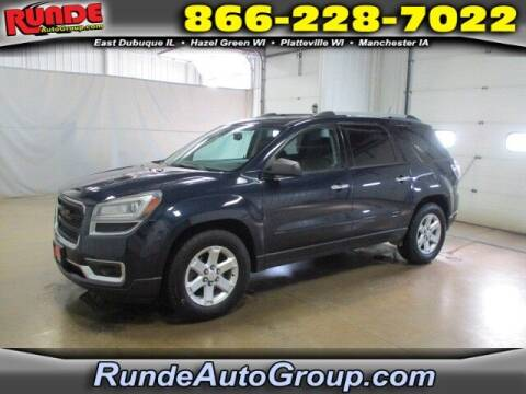2016 GMC Acadia for sale at Runde PreDriven in Hazel Green WI