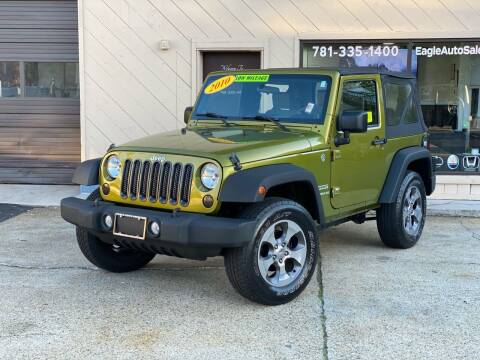 2010 Jeep Wrangler for sale at Eagle Auto Sales LLC in Holbrook MA
