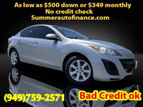 2011 Mazda MAZDA3 for sale at SUMMER AUTO FINANCE in Costa Mesa CA