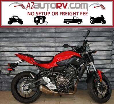 2017 Yamaha FZ-07 for sale at AZMotomania.com in Mesa AZ