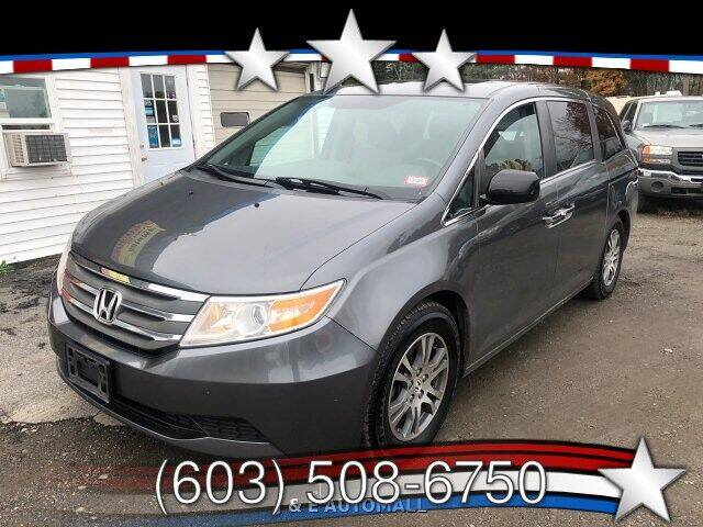 2012 Honda Odyssey for sale at J & E AUTOMALL in Pelham NH