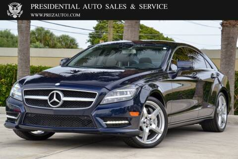 2014 Mercedes-Benz CLS for sale at Presidential Auto  Sales & Service in Delray Beach FL