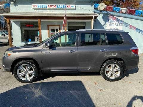 2009 Toyota Highlander for sale at Elite Auto Sales Inc in Front Royal VA