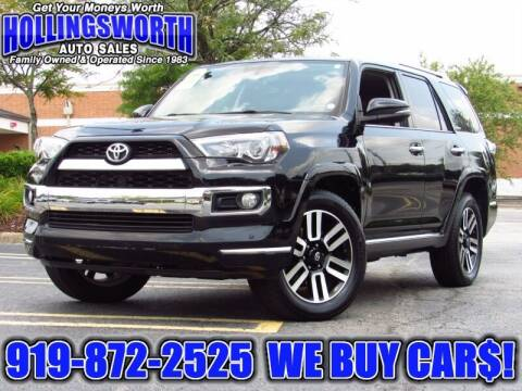 2016 Toyota 4Runner for sale at Hollingsworth Auto Sales in Raleigh NC