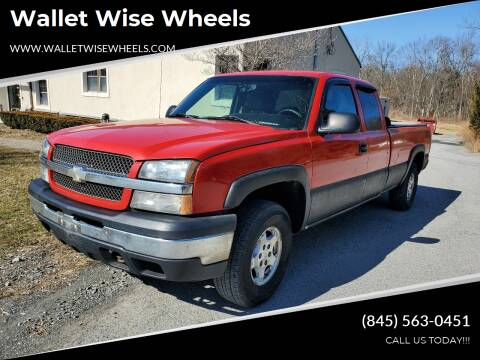 2003 Chevrolet Silverado 1500 for sale at Wallet Wise Wheels in Montgomery NY