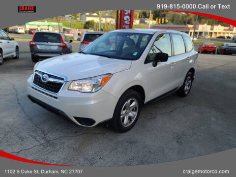 2014 Subaru Forester for sale at CRAIGE MOTOR CO in Durham NC