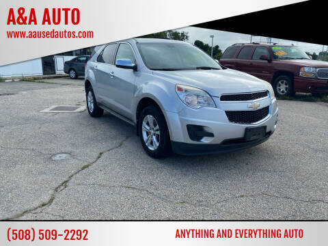 2010 Chevrolet Equinox for sale at A&A AUTO in Fairhaven MA