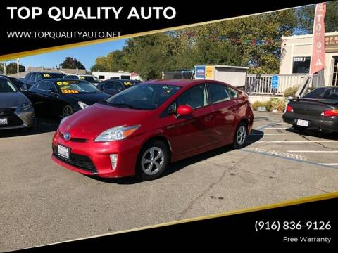 2012 Toyota Prius for sale at TOP QUALITY AUTO in Rancho Cordova CA
