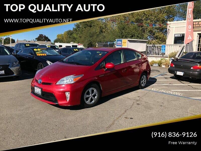 2012 Toyota Prius for sale at TOP QUALITY AUTO in Rancho Cordova CA