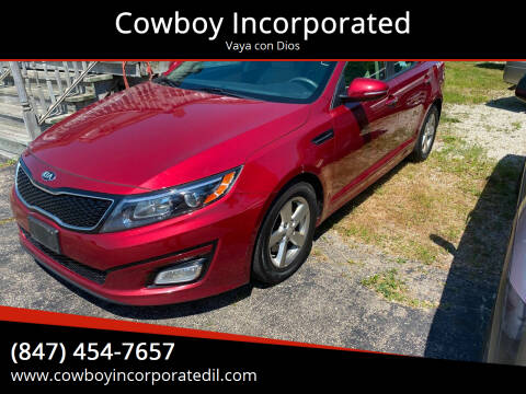 2015 Kia Optima for sale at Cowboy Incorporated in Waukegan IL