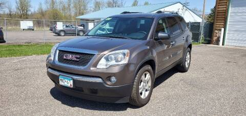 2010 GMC Acadia for sale at Transmart Autos in Zimmerman MN