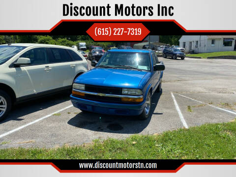 2001 Chevrolet S-10 for sale at Discount Motors Inc in Nashville TN