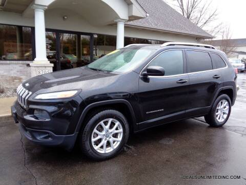 2015 Jeep Cherokee for sale at DEALS UNLIMITED INC in Portage MI
