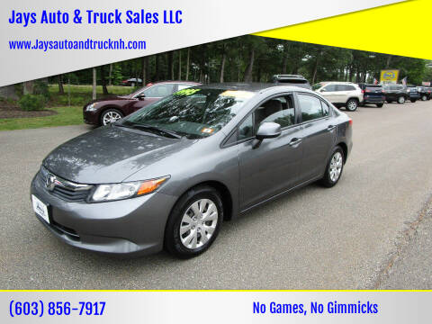 2012 Honda Civic for sale at Jays Auto & Truck Sales LLC in Loudon NH