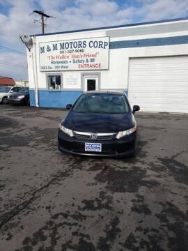 2012 Honda Civic for sale at M&M Motors in Salt Lake City UT