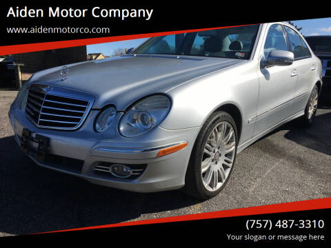 2008 Mercedes-Benz E-Class for sale at Aiden Motor Company in Portsmouth VA