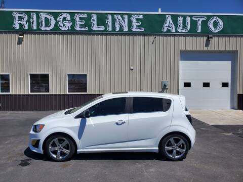 2013 Chevrolet Sonic for sale at RIDGELINE AUTO in Chubbuck ID