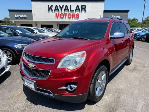 2012 Chevrolet Equinox for sale at KAYALAR MOTORS in Houston TX