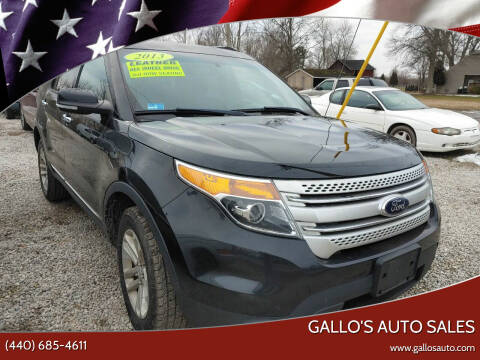 2013 Ford Explorer for sale at Gallo's Auto Sales in North Bloomfield OH