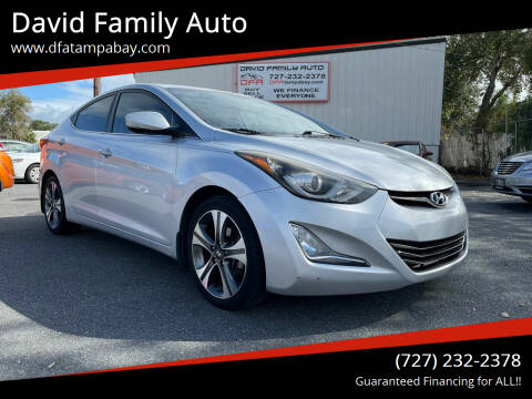 2015 Hyundai Elantra for sale at David Family Auto in New Port Richey FL