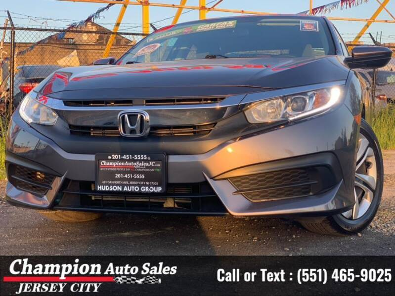 2018 Honda Civic for sale at CHAMPION AUTO SALES OF JERSEY CITY in Jersey City NJ