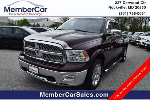 2012 RAM Ram Pickup 1500 for sale at MemberCar in Rockville MD