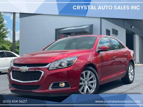 2014 Chevrolet Malibu for sale at Crystal Auto Sales Inc in Nashville TN