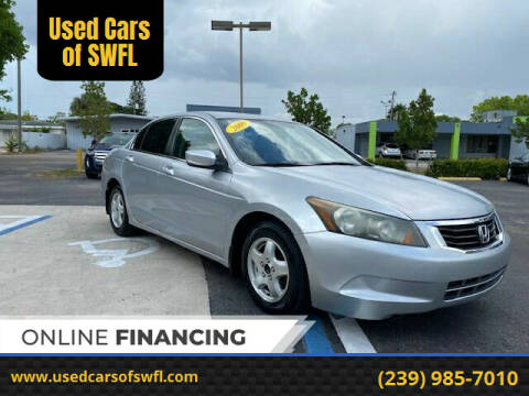 2009 Honda Accord for sale at Used Cars of SWFL in Fort Myers FL