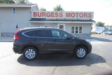 2015 Honda CR-V for sale at Burgess Motors Inc in Michigan City IN
