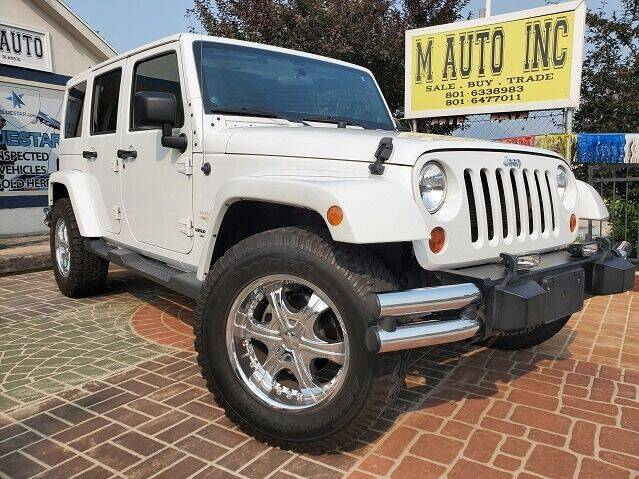 2012 Jeep Wrangler Unlimited for sale at M AUTO, INC in Millcreek UT