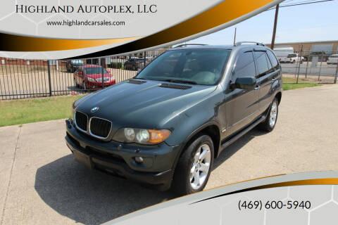 2005 BMW X5 for sale at Highland Autoplex, LLC in Dallas TX