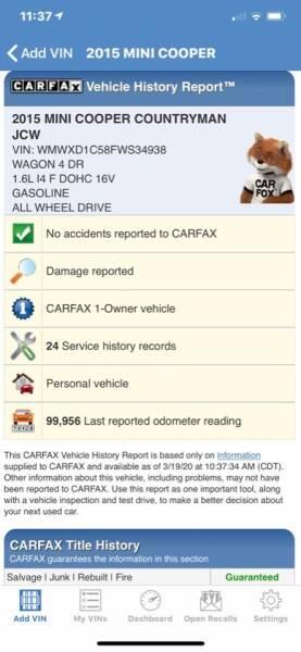 2015 MINI Countryman AWD John Cooper Works ALL4 4dr Crossover - Newark NJ
