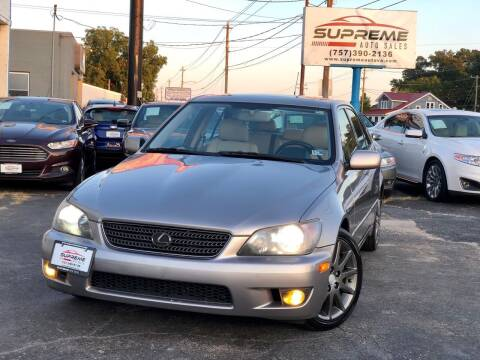 2004 Lexus IS 300 for sale at Supreme Auto Sales in Chesapeake VA