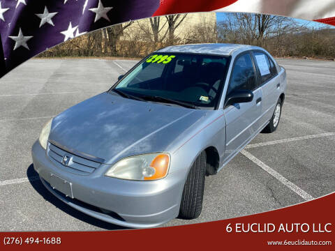 2001 Honda Civic for sale at 6 Euclid Auto LLC in Bristol VA