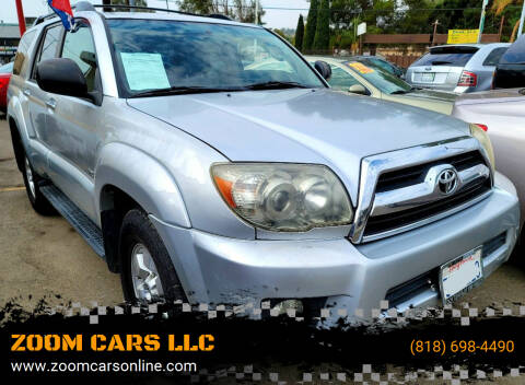 2006 Toyota 4Runner for sale at ZOOM CARS LLC in Sylmar CA