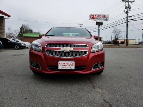 2013 Chevrolet Malibu for sale at Gia Auto Sales in East Wareham MA