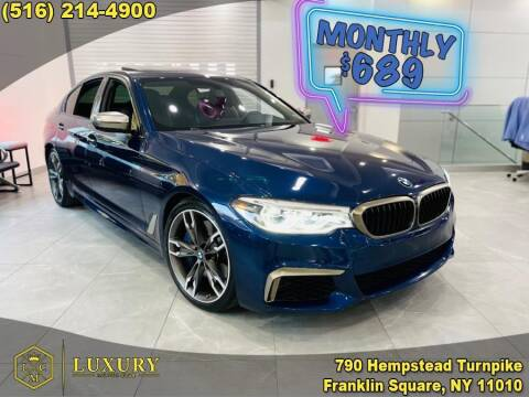2018 BMW 5 Series for sale at LUXURY MOTOR CLUB in Franklin Square NY