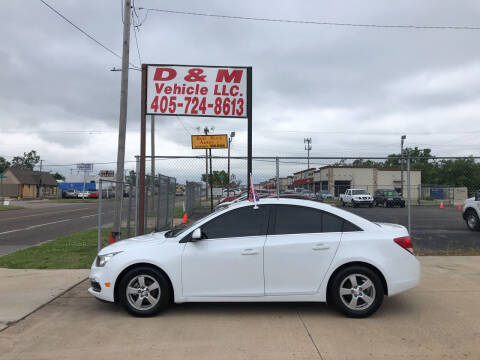 2015 Chevrolet Cruze for sale at D & M Vehicle LLC in Oklahoma City OK