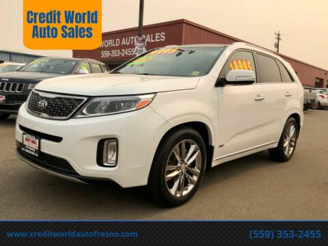 2014 Kia Sorento for sale at Credit World Auto Sales in Fresno CA
