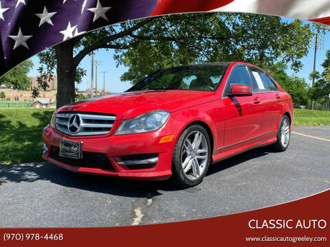 2013 Mercedes-Benz C-Class for sale at Classic Auto in Greeley CO