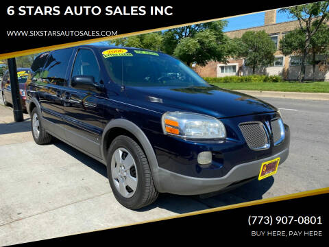 2006 Pontiac Montana SV6 for sale at 6 STARS AUTO SALES INC in Chicago IL