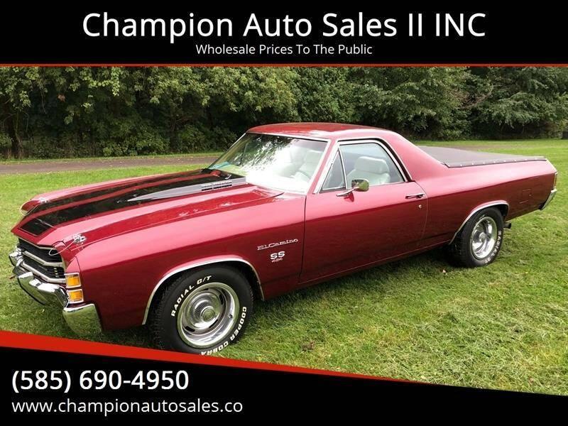 1971 Chevrolet El Camino for sale at Champion Auto Sales II INC in Rochester NY