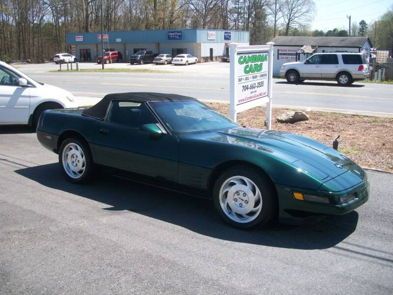 1993 Chevrolet Corvette for sale at Cambria Cars in Mooresville NC