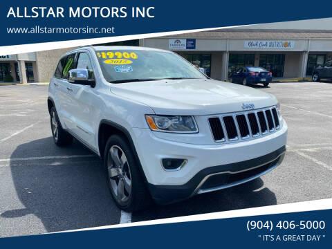 2015 Jeep Grand Cherokee for sale at ALLSTAR MOTORS INC in Middleburg FL