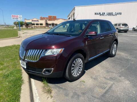 2011 Lincoln MKX for sale at MARLER USED CARS in Gainesville TX
