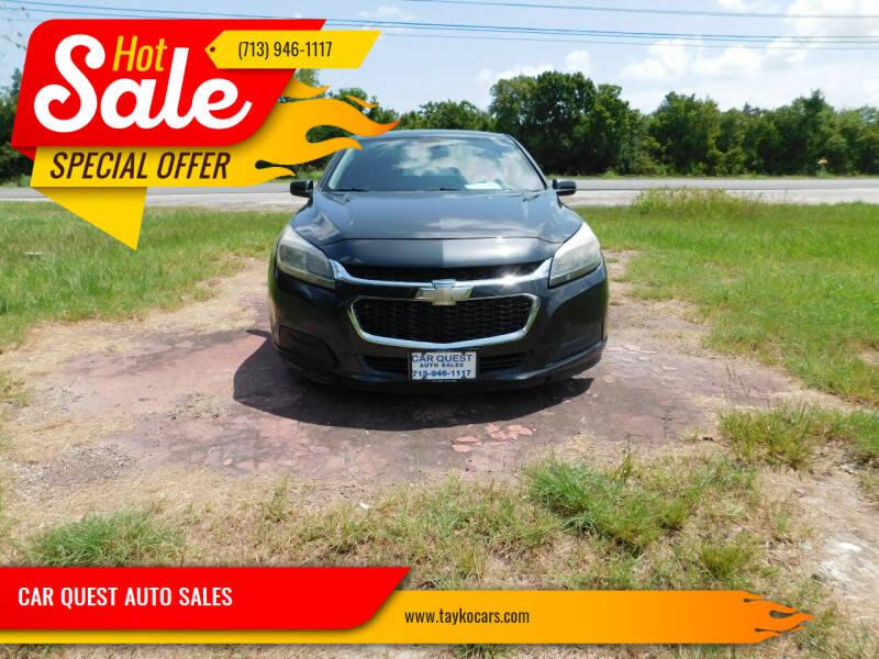 2014 Chevrolet Malibu for sale at CAR QUEST AUTO SALES in Houston TX