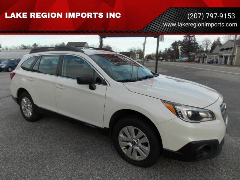2017 Subaru Outback for sale at LAKE REGION IMPORTS INC in Westbrook ME
