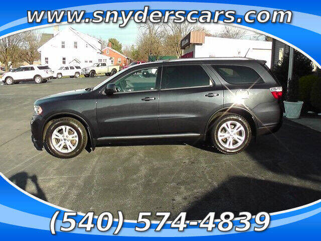 2012 Dodge Durango for sale at Snyders Auto Sales in Harrisonburg VA
